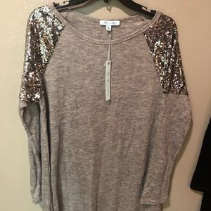 She and Sky Sweater Tunic